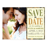 Camo Save The Date Announcement Postcard
