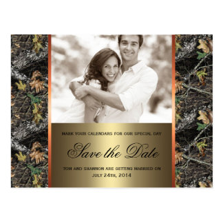 Camo Save the Date Postcard