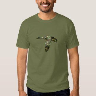 Camo Silhouette - Mallard Duck in Flight T Shirt