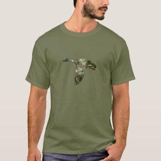 Camo Silhouette - Mallard Duck in Flight T-Shirt