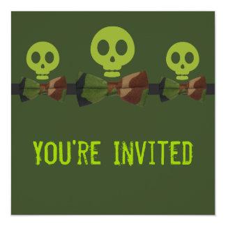 Camo Skeleton Birthday Card