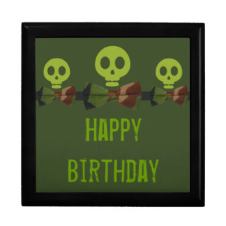 Camo Skeleton Birthday Gift Box