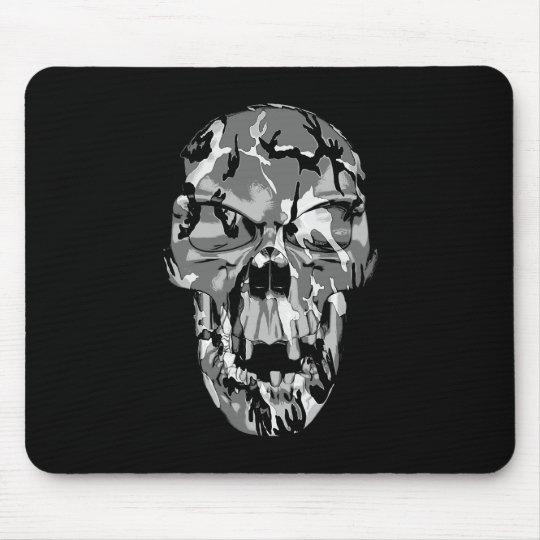 Camo Skull Mouse Pad