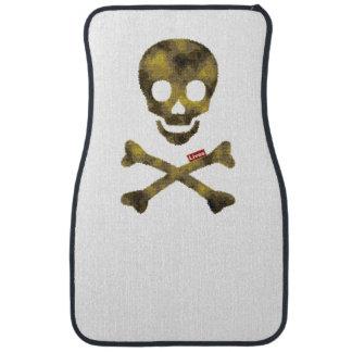 camo skull.png car floor mat