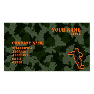 Camo Soccer Business Card