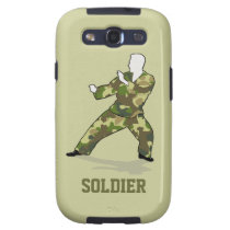 Camo Soldier Black Green Khaki Samsung Galaxy S3 Samsung Galaxy  SIII Covers at Zazzle