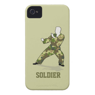 Camo Soldier In Black Green Khaki Blackberry Bold Case-Mate iPhone 4 Cases