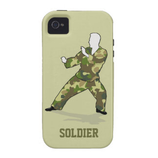 Camo Soldier In Black Green Khaki iPhone 4 Tough Vibe iPhone 4 Cases