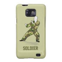 Camo Soldier In Black Green Khaki Samsung Galaxy Samsung Galaxy  Case at Zazzle