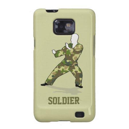 Camo Soldier In Black Green Khaki Samsung Galaxy Samsung Galaxy S2 Cov
