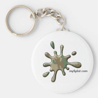 Camo Splat - mySplat.com Basic Round Button Keychain