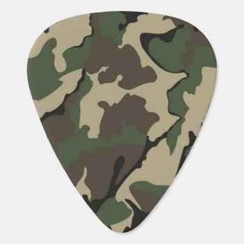 Camo Standard Guitar Pick by StormythoughtsGifts at Zazzle