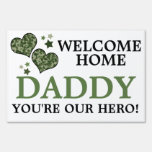 Camo Stars/Hearts Welcome Home Daddy Yard Signs