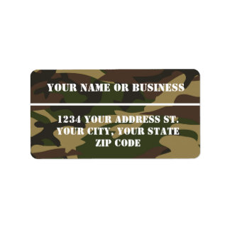 Camo Stencil Address Label