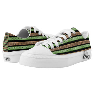 Camo Stripes Print Low-Top Sneakers