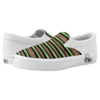 Camo Stripes Print Slip-On Sneakers