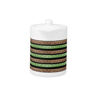 Camo Stripes Print Teapot