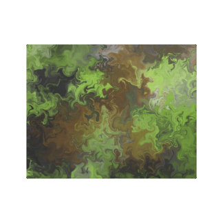 Camo Style Abstract Digital Art Canvas Print