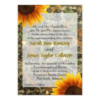 Camo &amp; Sunflower Wedding Invitation (<em>$2.01</em>)