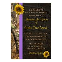 Camo Sunflower Wedding Invitations (<em>$2.05</em>)