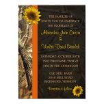 Camo & Sunflowers 5x7 Paper Invitation Card