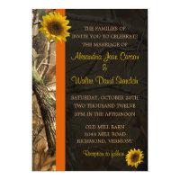 Camo &amp; Sunflowers 5x7 Paper Invitation Card (<em>$2.06</em>)