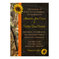 Camo & Sunflowers Custom Announcements