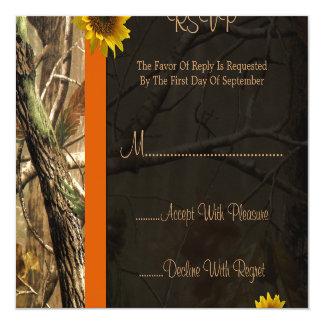 Camo & Sunflowers Custom Invitations