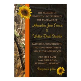 Camo Sunflowers Custom Announcements