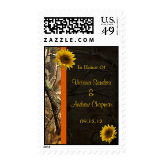 Camo & Sunflowers Stamps