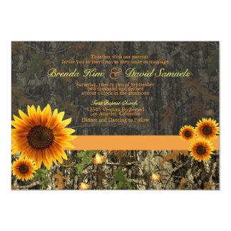 Camo Sunflowers Wedding Invitation