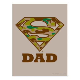 Camo Super Dad Postcard