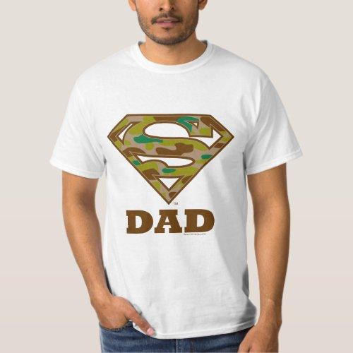 Camo Super Dad T_Shirt