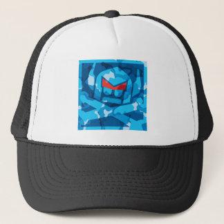 Camo Swede in blue Trucker Hat
