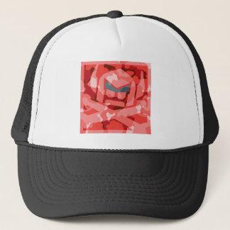 Camo Swede in red Trucker Hat