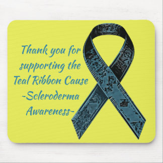 Camo Teal Ribbon Scleroderma Awareness Mousepad