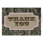 Camo Thank you note cards Pink