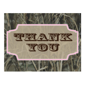 Camo Thank you postcards Pink