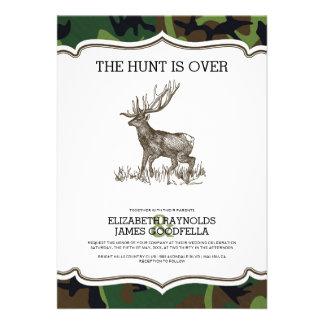 Camo The Hunt is Over Wedding Invitations Invitation