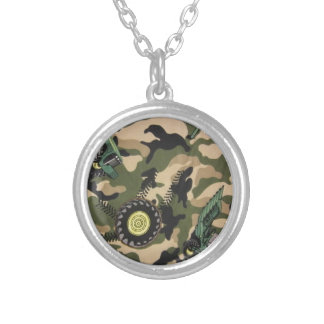 Camo & Tractors Silver Plated Necklace
