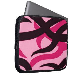 Camo tribal rosado funda portátil