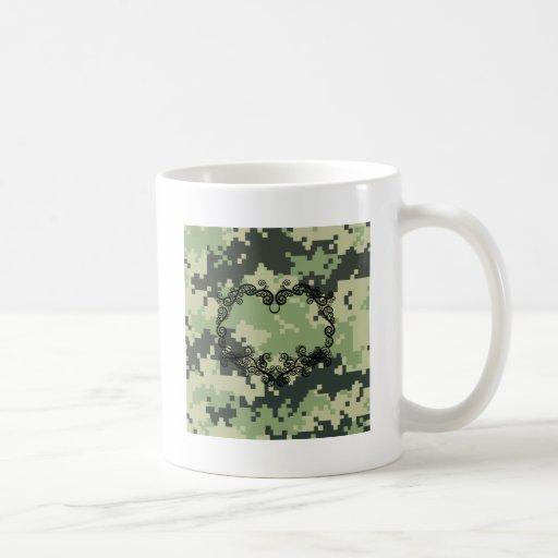 Camo Twining Heart Coffee Mug