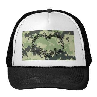 Camo Twining Heart Trucker Hats