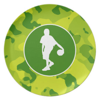 Camo verde; Baloncesto Plato Para Fiesta