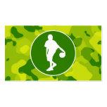 Camo verde; Baloncesto Plantillas De Tarjetas Personales