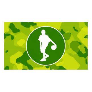 Camo verde; Baloncesto Tarjetas De Visita