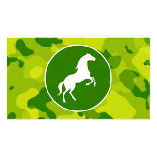 Camo verde; Caballo, ecuestre Tarjetas De Visita