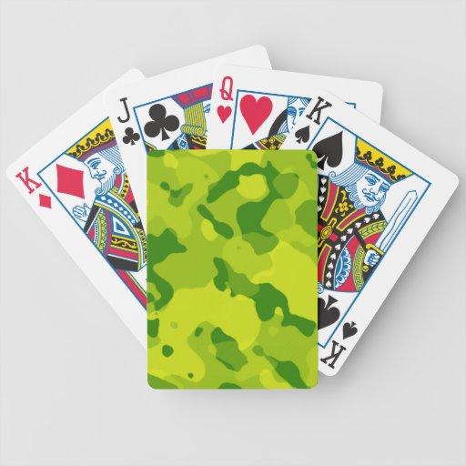Camo verde; Camuflaje Baraja Cartas De Poker