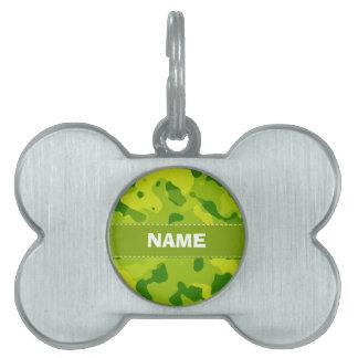 Camo verde; Camuflaje Placa Mascota
