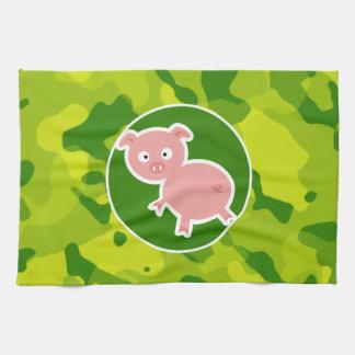 Camo verde; Cerdo Toalla De Mano